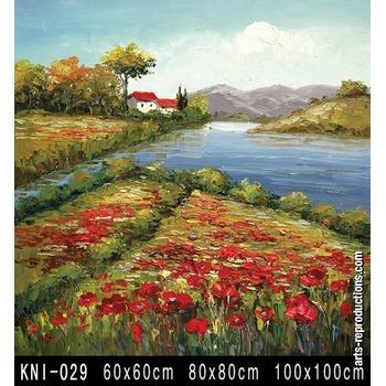 tableau art kni 029 tableau tableaux paysages arts reproductions peinture l huile sur toile. Black Bedroom Furniture Sets. Home Design Ideas