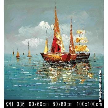 Tableau peinture abstrait KNI-086 tableau Tableaux Paysages Mer Arts Reproductions, peinture à l ...