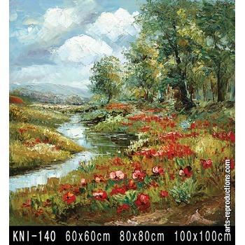 vente tableau art kni 140 tableau tableaux paysages arts reproductions peinture l huile sur. Black Bedroom Furniture Sets. Home Design Ideas