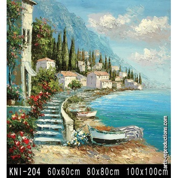 tableau tendance kni 204 tableau tableaux paysages mer arts reproductions peinture l huile. Black Bedroom Furniture Sets. Home Design Ideas