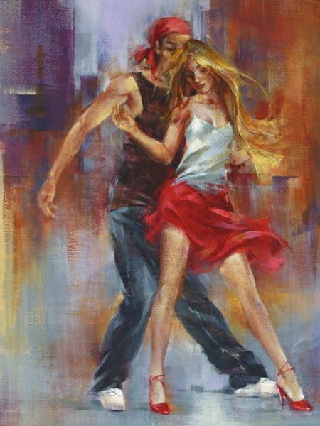 reproduction peinture couple danseurs 22 tableau tableaux. Black Bedroom Furniture Sets. Home Design Ideas
