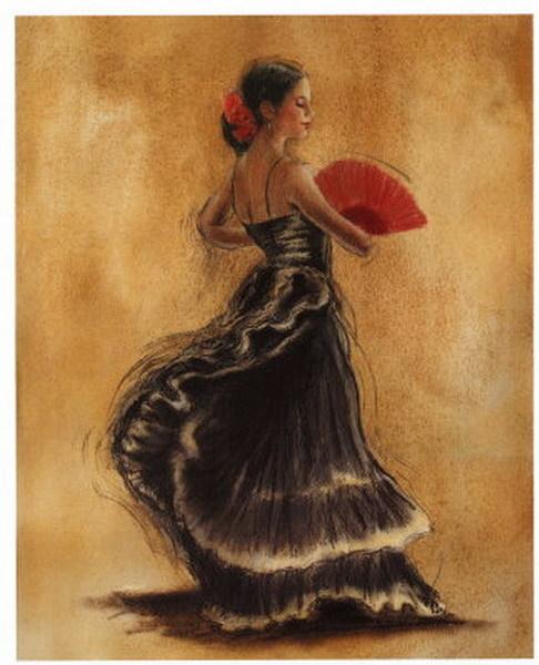 Tableau peint danseuse 15 tableau tableaux danseuses arts reproductions pein - Peinture les danseuses ...