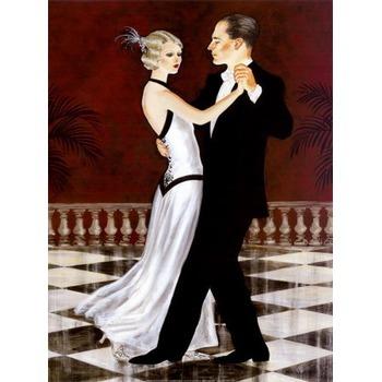 reproduction sur toile pas cher couple danseurs 48 tableau tableaux danse art. Black Bedroom Furniture Sets. Home Design Ideas