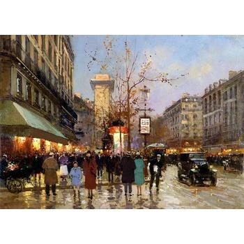 Toile originale paris 4 tableau tableaux paysages villes arts reproductions peinture l huile - Magasin reproduction tableau paris ...