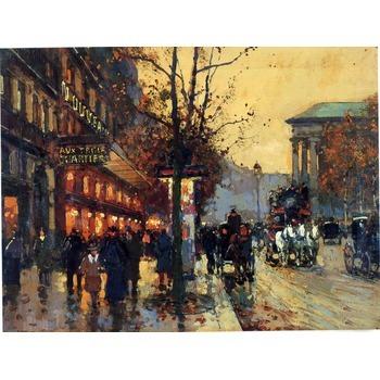 Toile artistique paris 9 tableau tableaux paysages villes arts reproductions peinture l huile - Magasin reproduction tableau paris ...