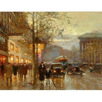 Tableau toile de lin paris 11 tableau tableaux paysages villes arts reproductions peinture l - Magasin reproduction tableau paris ...