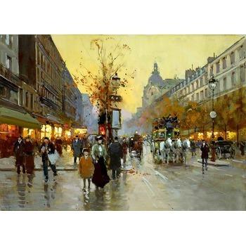 Tableau peinture a l huile paris 13 tableau tableaux paysages villes arts rep - Tableau de peinture a l huile ...