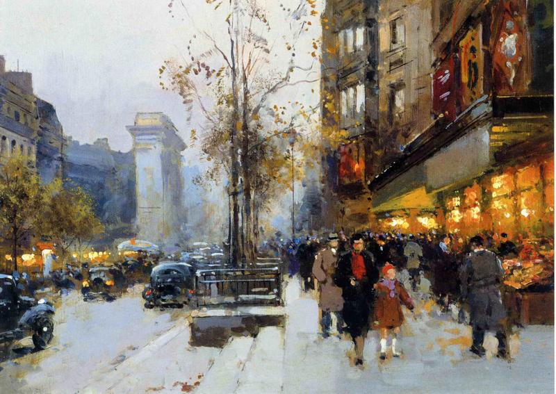 Tableau peinture a l huile paris 13 tableau tableaux ville for Reproduction de tableaux modernes