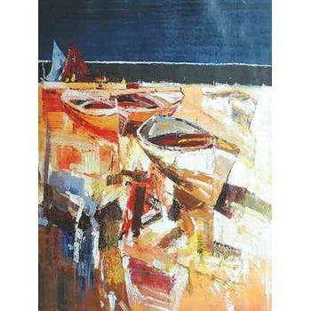 tableau sur mesure echouage de barques 2 tableau tableaux paysages mer arts reproductions. Black Bedroom Furniture Sets. Home Design Ideas