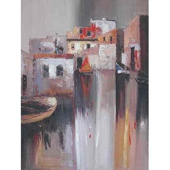 reproduction tableaux peinture petit port de p che 7 tableau tableaux paysages mer arts. Black Bedroom Furniture Sets. Home Design Ideas