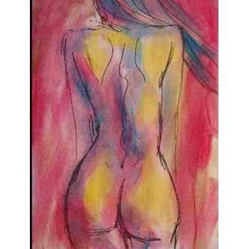 reproduction tableaux  nus peinture sur toile contemporaine femme nue vue de dos