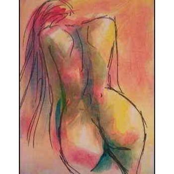 Photo dessin femme nu