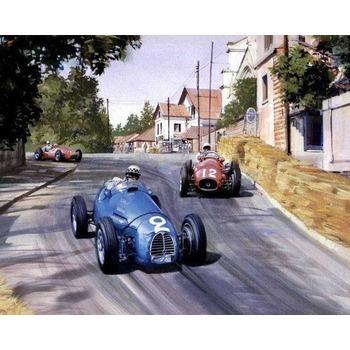 Tableau peinture contemporain course de voitures 3 tableau for Garage de peinture automobile