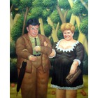 Reproduction toile portrait Couple en Botero