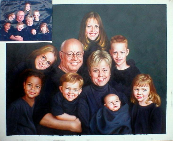 tableau portrait famille 3 tableau portraits famille arts reproductions peinture l huile sur. Black Bedroom Furniture Sets. Home Design Ideas