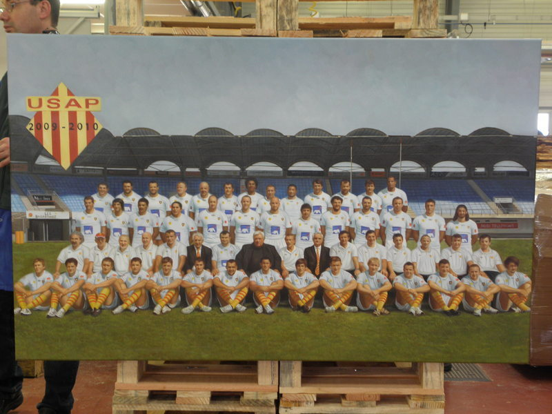 Portrait personnalise rugby Equipe USAP
