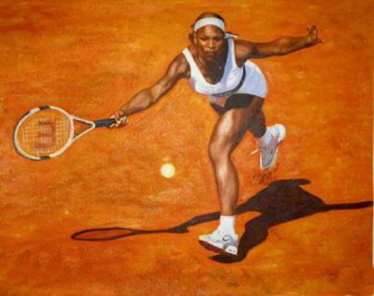 Reproduction toile portrait Serena Williams