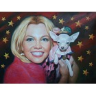 Peintre portrait Britney Spears