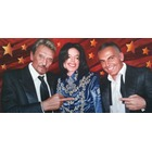 Portraits peinture Johnny Hallyday Michael Jackson et Christian Audigier (exclusivité !)