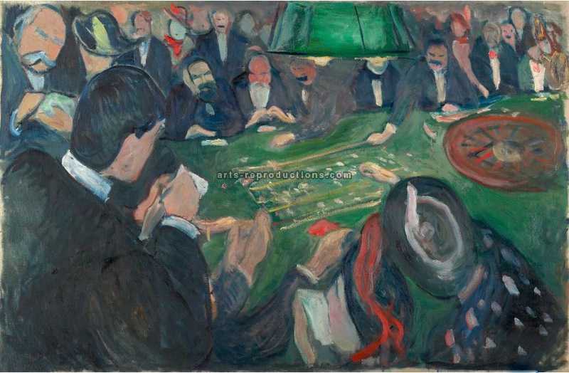 Tableau Peinture à l'huile Edvard Munch At the Roulette Table in Monte Carlo