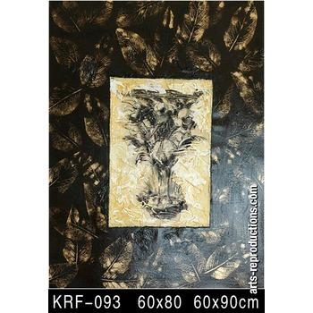 tableau contemporain abstrait krf 093 tableau tableaux fleurs arts reproductions peinture l. Black Bedroom Furniture Sets. Home Design Ideas
