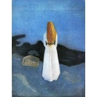 Tableau Peinture à l'huile Edvard Munch Young Woman on the Shore