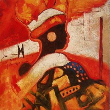 Tableau Peinture à l\'huile Afrique Africain 21 tableau ...