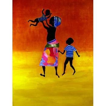 Tableau Peinture à l\'huile Afrique Africain 27 tableau ...