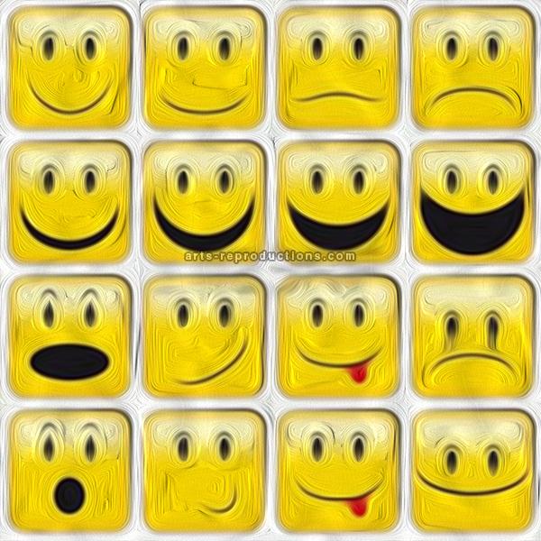 tableau peinture  u00e0 l u2019huile emoticones 48 tableau tableaux emoticones arts reproductions