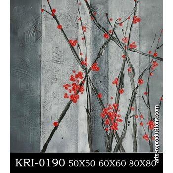 tableau abstrait pas cher kri 0190 tableau tableaux fleurs arts reproductions peinture l. Black Bedroom Furniture Sets. Home Design Ideas