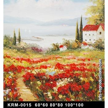 Oeuvre d art moderne krm 0015 tableau tableaux paysages for Art moderne peinture