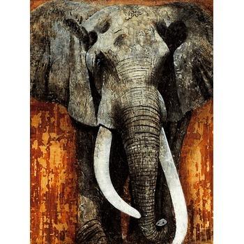 tableau peinture l huile animal elephant 5 tableau. Black Bedroom Furniture Sets. Home Design Ideas
