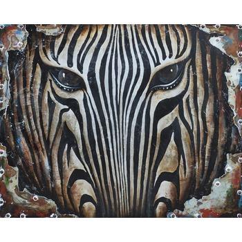 Tableau Peinture à l'huile Animal Zebre 4