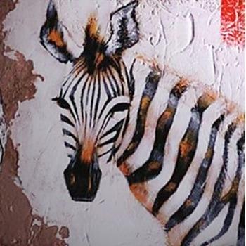 Tableau Peinture à Lhuile Animal Zebre 7 Tableau Tableaux Animaux
