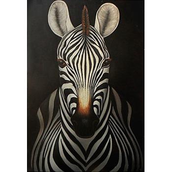 Tableau Peinture à l'huile Animal Zebre 1