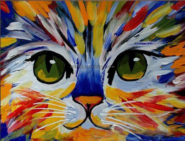 Tableau Peinture à l'huile Animal Chien 1