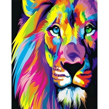 tableau peinture l 39 huile animal lion 2 color tableau tableaux animaux arts reproductions. Black Bedroom Furniture Sets. Home Design Ideas
