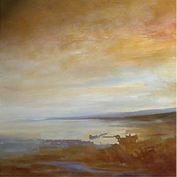 Tableau Peinture à l'huile Mer et Bateau