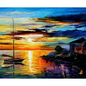 tableau peinture l huile mer et bateau 79 tableau tableaux paysages mer arts reproductions. Black Bedroom Furniture Sets. Home Design Ideas