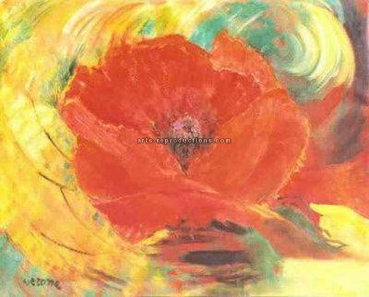 art moderne tableau yvnewab013 tableau tableaux fleurs arts reproductions peinture l huile. Black Bedroom Furniture Sets. Home Design Ideas