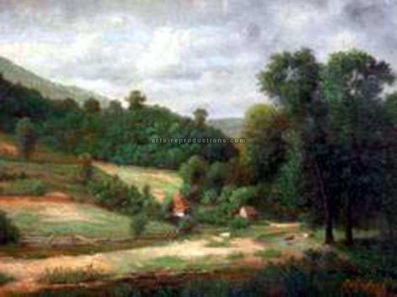 tableau peinture l huile paysage de provence 55 tableau tableaux paysages arts reproductions. Black Bedroom Furniture Sets. Home Design Ideas