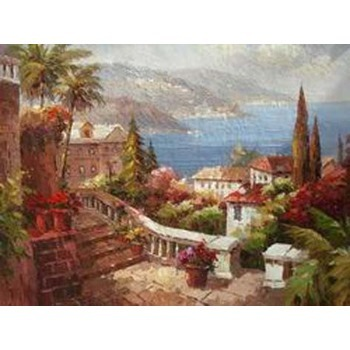 tableau peinture à l'huile paysage