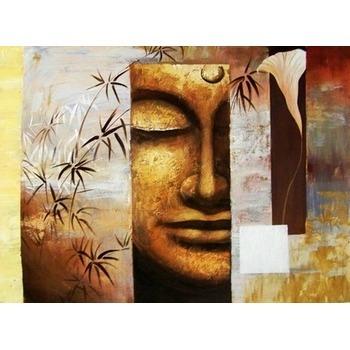 Tableau Peinture à Lhuile Bouddha Zen 1 Tableau Tableaux Déco Zen