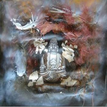 Tableau Peinture à l'huile Bouddha Zen 15