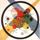 Tableau Peinture à l'huile Wassily Kandinsky Circles in Circle 1923