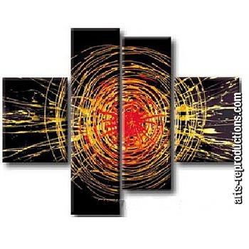 Tableau tryptique moderne lu78 tableau tableaux triptyques arts reproductions - Tableaux modernes tryptiques ...
