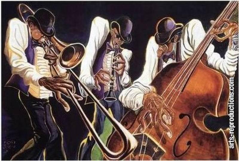 Copie toile yvab1112 tableau tableaux music arts for Reproduction de tableaux modernes