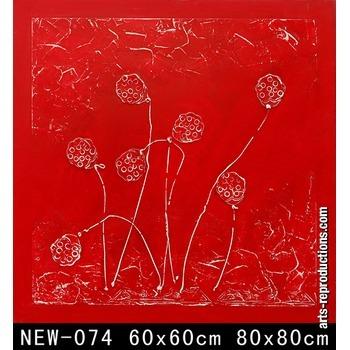 vente contemporain new 074 tableau tableaux fleurs arts reproductions peinture l huile sur. Black Bedroom Furniture Sets. Home Design Ideas