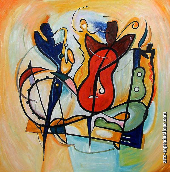 Reproduction tableau abstrait RIabstract114