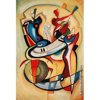 Vente tableaux d co riabstract128 tableau musique arts - Vente tableaux peinture a l huile ...